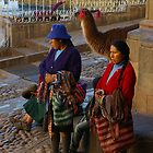 Women Selling in Cusco Peru by Elena Vazquez