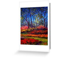 A Vibrant Day in Keukenhof Greeting Card