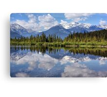 Vermillion Lakes (2) Canvas Print
