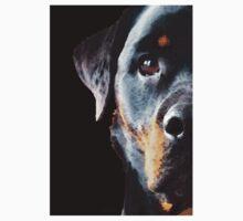 Rottie Love - Rottweiler Art By Sharon Cummings Kids Tee