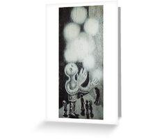 multiplying lights beneath the lids. 16''x36''. graphite, oil on wood. adam sturch. Greeting Card