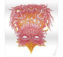 Firebird Line Design Poster