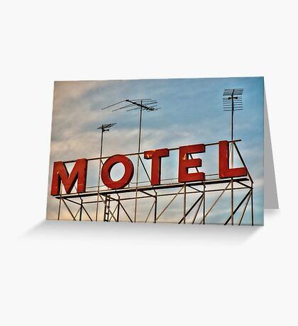 MOTEL Greeting Card
