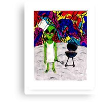 Spaceman Cookout Canvas Print