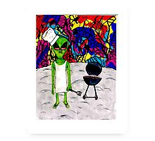 Spaceman Cookout Photographic Print