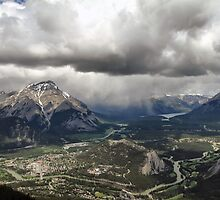 A View from the Top of Sulphur Mountain by Teresa Zieba