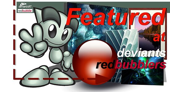 Deviants Redbubblers Featured banner by Fiery-Fire