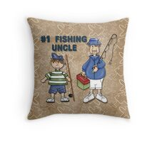 Number #1 Fishing Uncle Throw Pillow