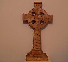"""""""Matchstick Art"""" Celtic Cross,, by Pat Duggan"""