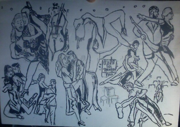 Sketch of Argentine Tango by tim norman