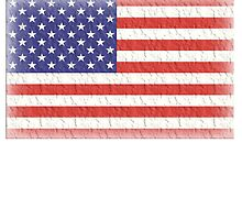 AMERICA, AMERICAN FLAG, FADED, USA, STARS & STRIPES, PURE & SIMPLE by TOM HILL - Designer