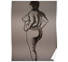 Charcoal Nude2 Poster