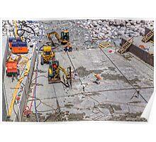 Pukaki Canal Inlet, Gate 18 - repair 3 Poster