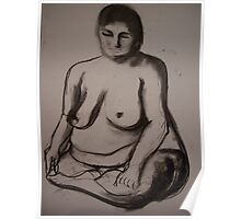 Charcoal Nude4 Poster