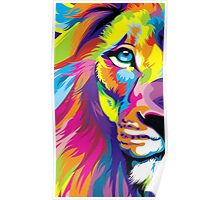 Colorful Lion Poster