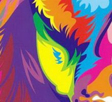 Colorful Lion Sticker