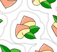 'Peachy' cartoon print Sticker