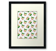 'Peachy' cartoon print Framed Print