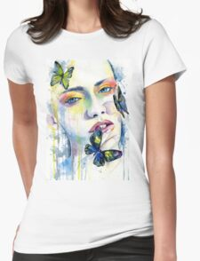Falling Womens Fitted T-Shirt