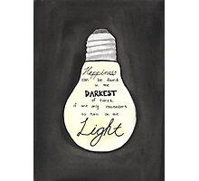 Harry Potter Light Quote Photographic Print