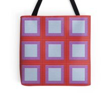 Colorful Quilt Squares Pattern Tote Bag