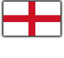 England Flag, English Flag, Flag of St George, Pure & simple by TOM HILL - Designer