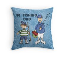 Number #1 Fishing Dad Throw Pillow