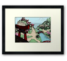Blossom Village Framed Print