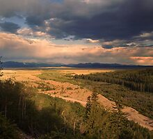 Evening Over The Valley by John  De Bord Photography
