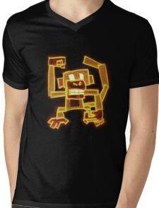 Fire Monkey Mens V-Neck T-Shirt