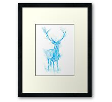 Prongs Stag Patronus Framed Print