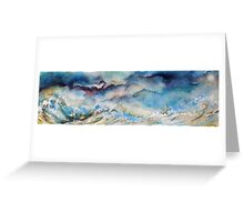 Salling in a stormy sea Greeting Card