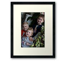 Three boys downtown Framed Print