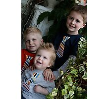 Three boys downtown Photographic Print