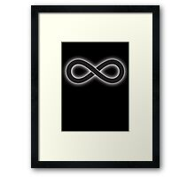 Infinity, Maths Symbol, Infinite, Pure & simple, on black Framed Print