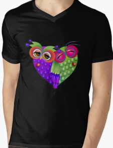 Owl's love Mens V-Neck T-Shirt