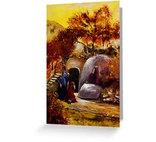 Mary, Mary And Salome At The Tomb Of Jesus Greeting Card