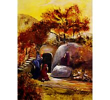 Mary, Mary And Salome At The Tomb Of Jesus Photographic Print