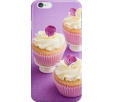 Decorated cupcakes iPhone Case/Skin