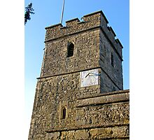 Church Tower with Sundial Photographic Print