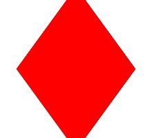 ACE, DIAMONDS, Cards, Game, Suit, Ace of Diamonds, Red by TOM HILL - Designer