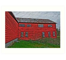old tannery building Art Print