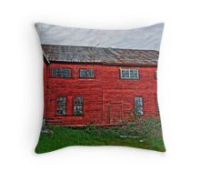 old tannery building Throw Pillow