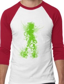 Female Spirit of Nature Men's Baseball ¾ T-Shirt