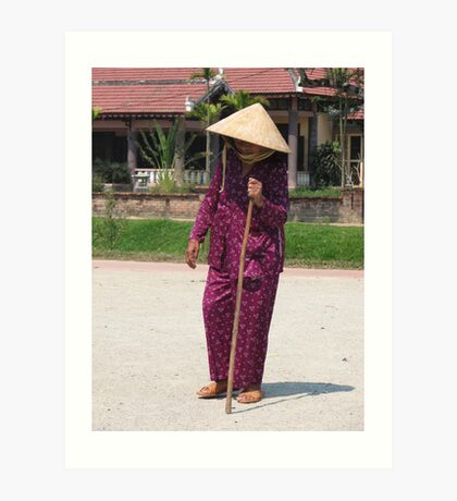 An old lady heads to market Art Print