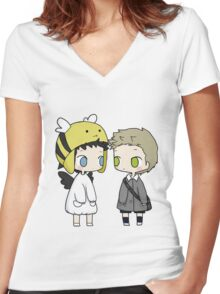 Babies Cas and Dean Women's Fitted V-Neck T-Shirt
