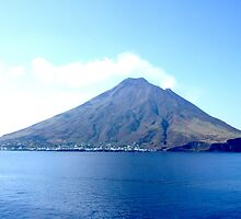 VOLCANO, Volcanic, Active Volcano, Stromboli, Eruption, Italy, from the sea by TOM HILL - Designer