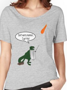 What *really* happened to the dinosaurs!  Women's Relaxed Fit T-Shirt