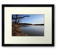 Looking Down the Old Man River Framed Print