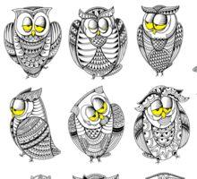 Sleepy Owls Sticker